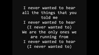 Saosin - I Never Wanted To (Lyrics)