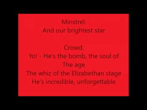 Something Rotten!: Welcome To The Renaissance with lyrics