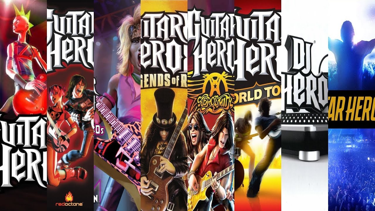 The Evolution Of Guitar Hero Games Youtube