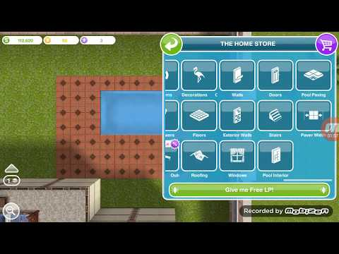 HOW TO CREATE A POOL IN SIMS FREEPLAY!!