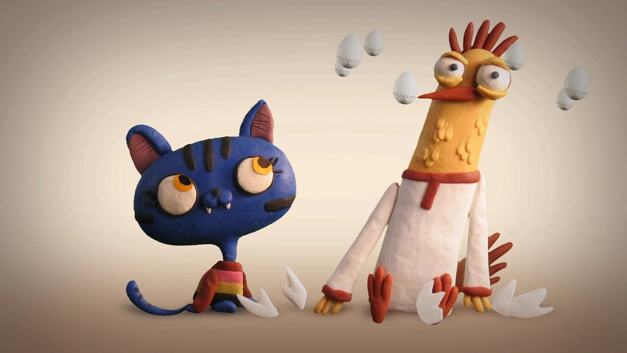 """A Rooster and a Pussy-Cat (Animation series - """"Mountain of Gems"""")"""