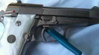 pistola pietro Beretta cheetah 84fs 380 9mm antes de pulir video 1