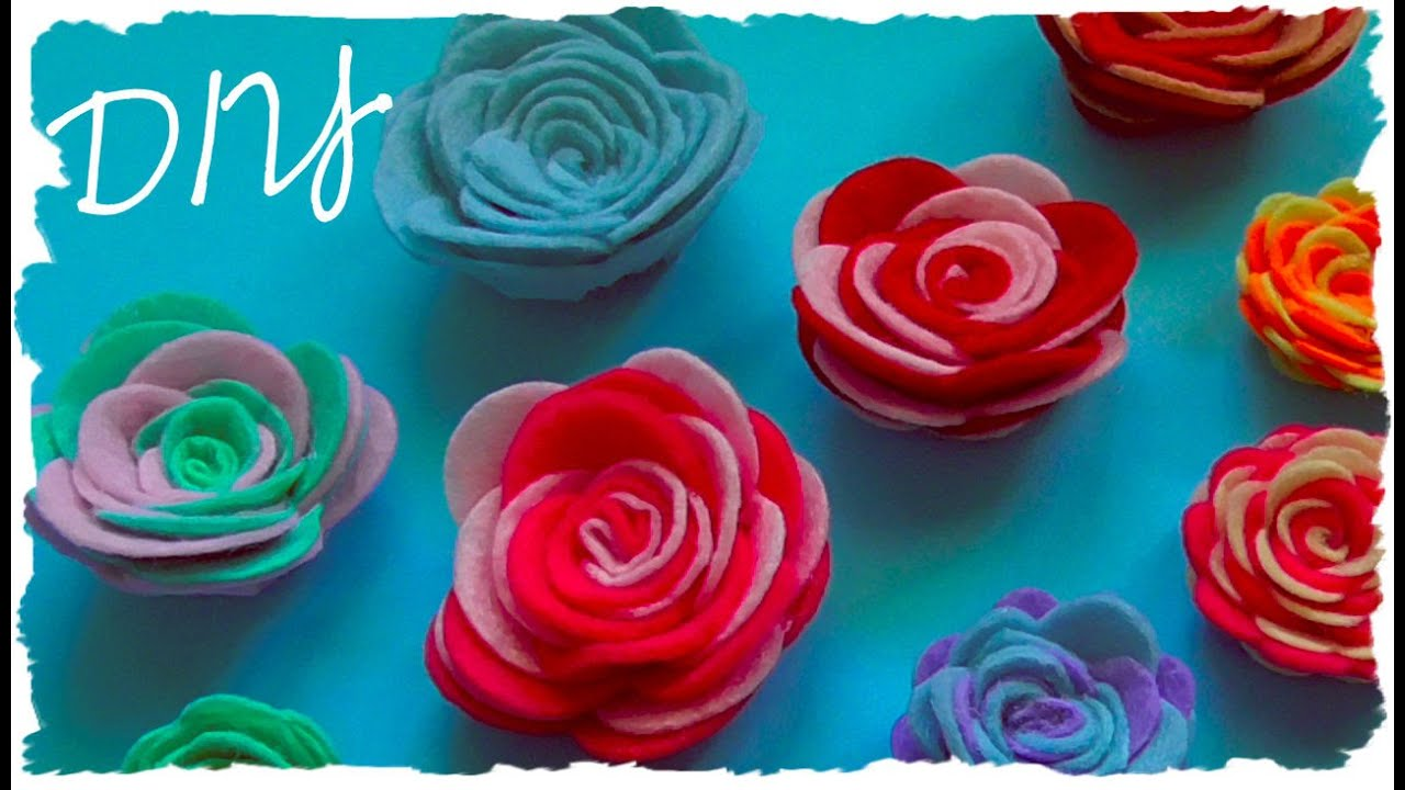 Tutorial rose in feltro o pannolenci fai da te diy felt - Mobiletti fai da te ...