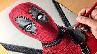 Drawing Deadpool - Time-lapse | Artology