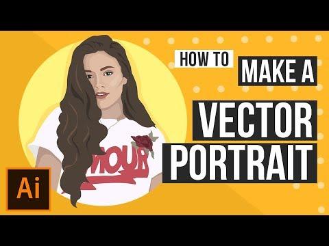 How To Make A Vector Portrait | Using Adobe Illustrator cc thumbnail