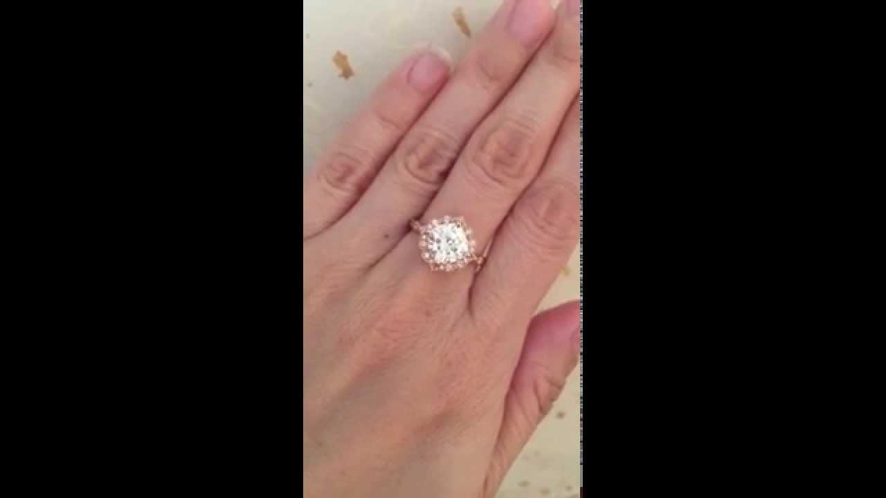 Forever Brilliant Moissanite Engagement Ring In Rose Gold Diamond Wedding  Band ~ La More Design  Youtube