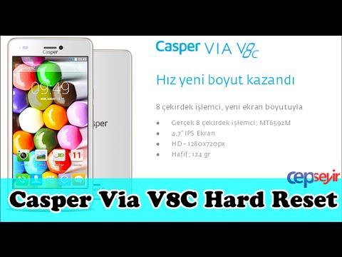 Casper VİA V8C Hard Reset - Sıfırlama