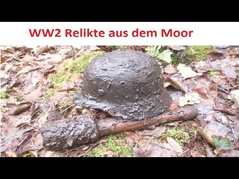WW2 Relikte der Wehrmacht aus dem Moor ( WK2, Stahlhelme, Panzerfaust, Stielhandgranate)