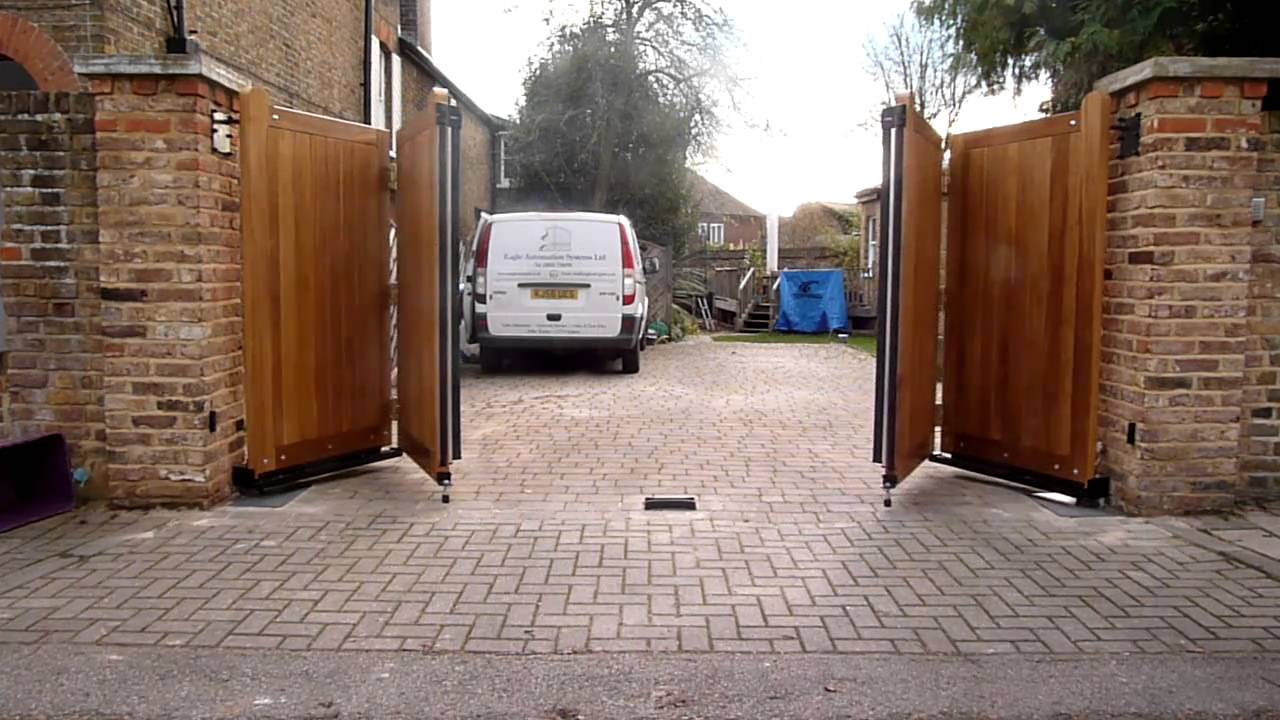 Hardwood Bi Folding Gate Youtube
