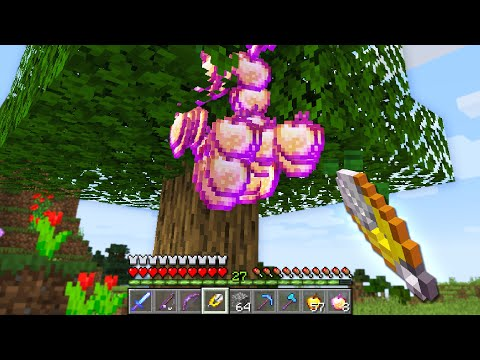 Minecraft UHC but I crafted shears that drop god apples...