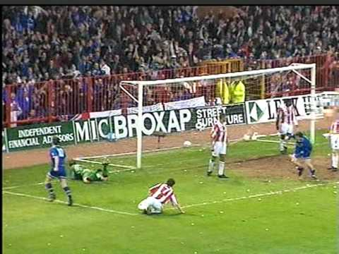 Stoke City 0 - 1 Leicester City Play Off Semi 1996 Gary Parker