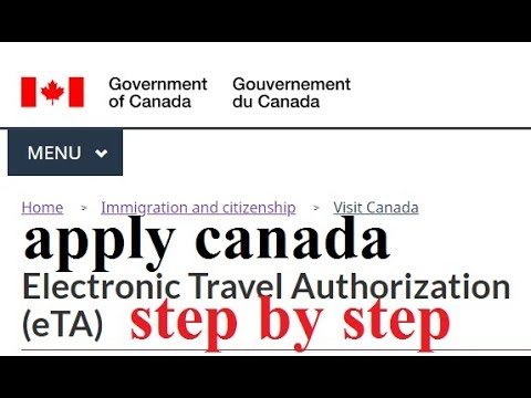 How To Apply Electronic Travel Authorization (ETA)canada