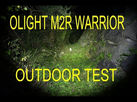 OLIGHT M2R WARRIOR 1500 lm - Night test