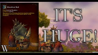 WoW Naak The Thunderer - Bloodhoof Bull Rare Mount Drop!! - Warlords of Draenor
