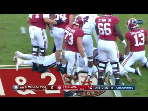2018 - Mississippi State Bulldogs At Alabama Crimson Tide In 30 Minutes