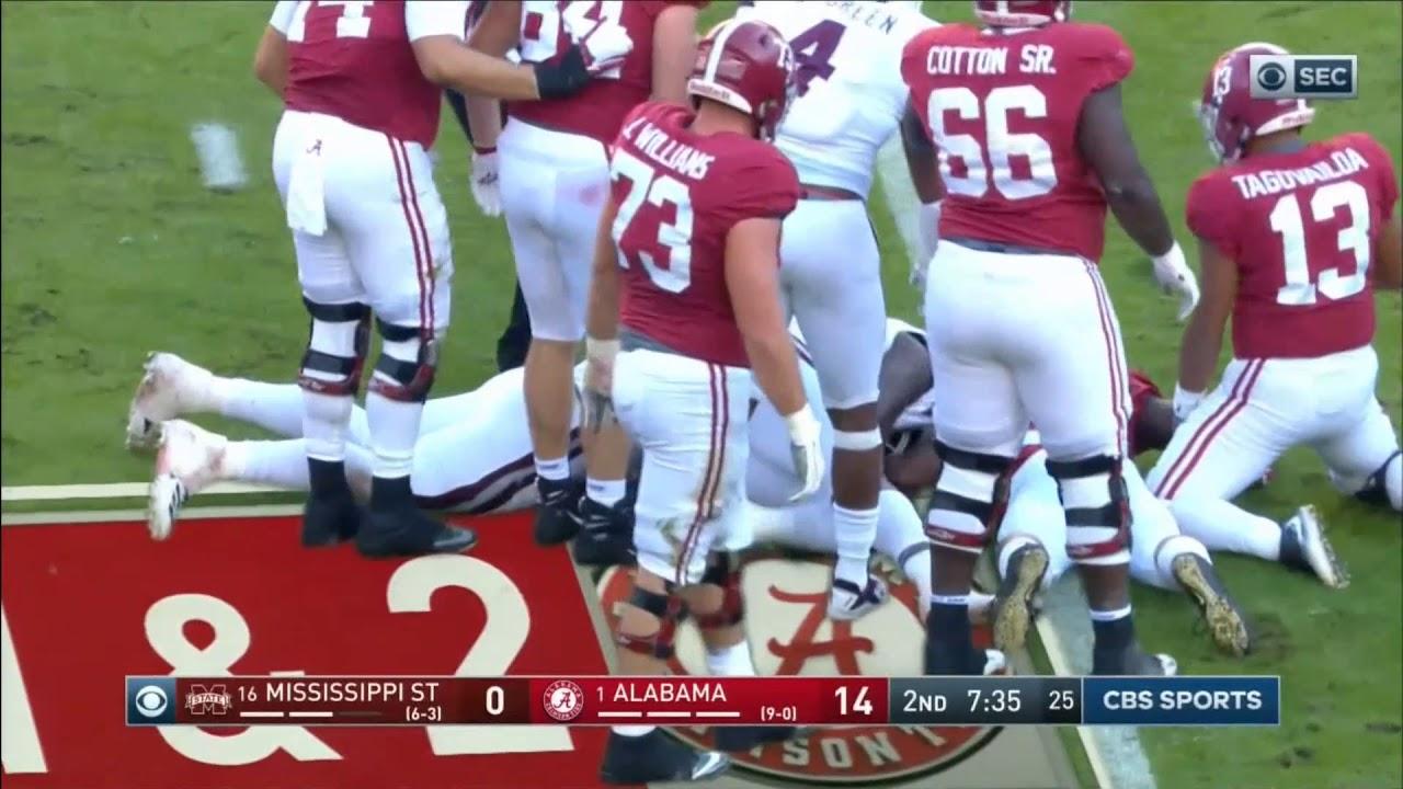 innovative design 568d5 16601 2018 - Mississippi State Bulldogs at Alabama Crimson Tide in 30 Minutes