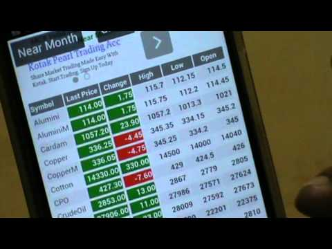 Trade in mcx with Smartphone anywhere for double freedom &profit