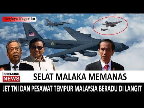 LAGI-LAGI !! Jet Tempur TNI AU Dan Pesawat Tempur Malaysia BERTERBANGAN Di Selat Malaka