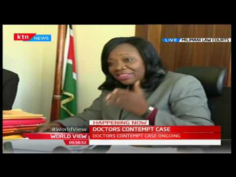 The Doctors' contempt case - Full proceedings from Milimani Law Courts