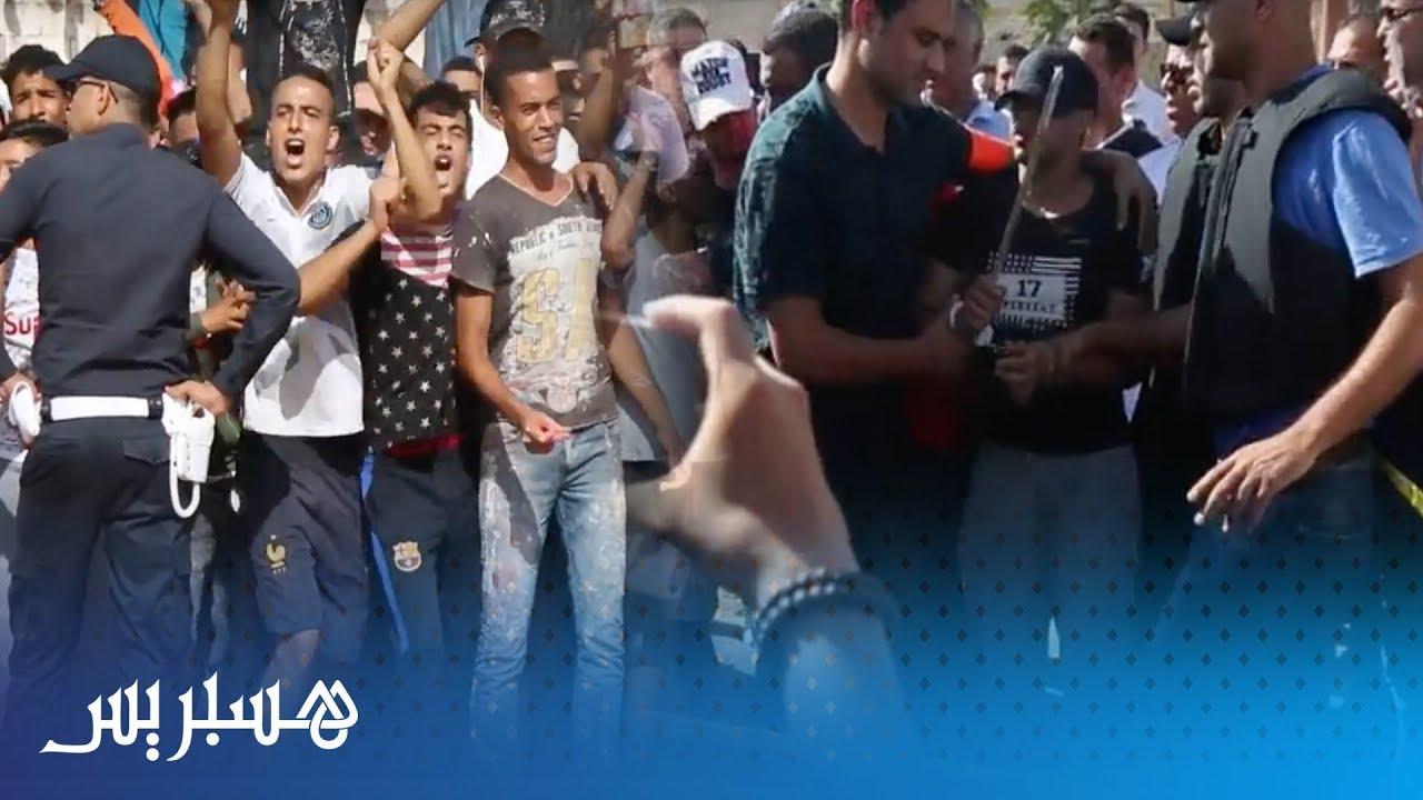 شاهد ماذا وقع أثناء إعادة تمثيل جريمة ذبح شاب بمدينة سلا