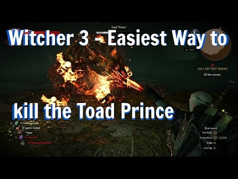 Witcher 3: Hearts of Stone - Easy Way to Kill the Toad Prince (Death March)