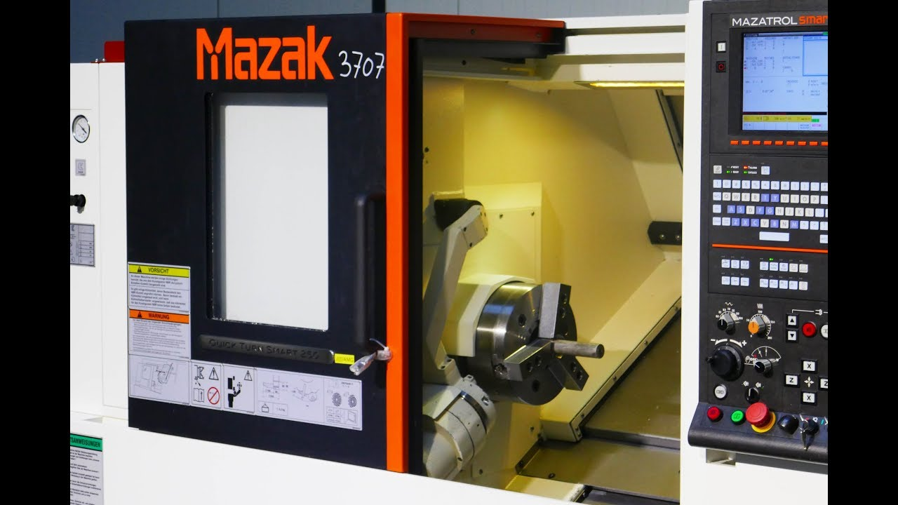3707 = MAZAK QUICKTURN SMART 250 MACH4METAL CNC Lathe Drehmaschine