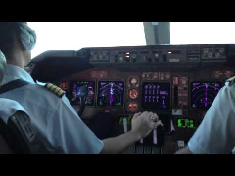 Boeing 747 400 aircraft landing at the airport in Punta Cana Boeing. 400 passengers on board