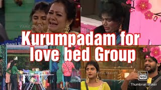 Kurumpadam for love bed Group || BIGGBOSS Season-4 Tamil || Rio vs Anitha Fight || Rio Total Damage