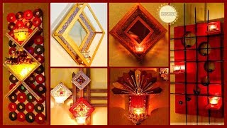 5 Unique Wall Hanging with Light holder|gadac diy|home decorating ideas|diy crafts|Diwali decoration
