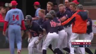 Auburn Baseball vs Ole Miss Game 3 Highlights