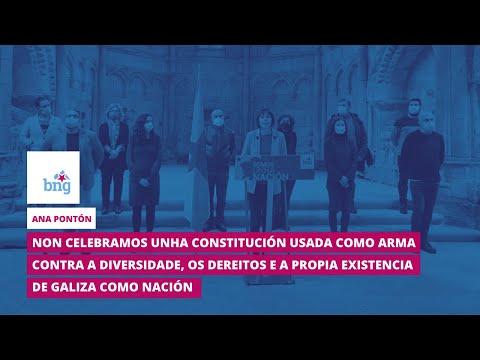 Ana Pontón: «Non celebramos unha Constitución usada contra a diversidade e a propia existencia da nación galega»