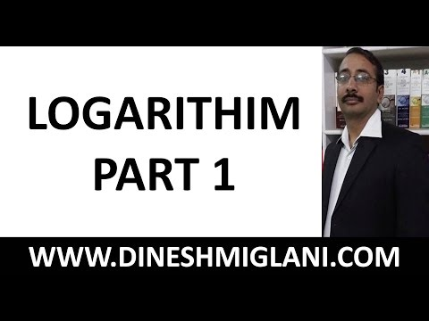 Best Shortcuts and Tricks on Logarithim Part 1 for CAT, IIT JEE by Dinesh Miglani