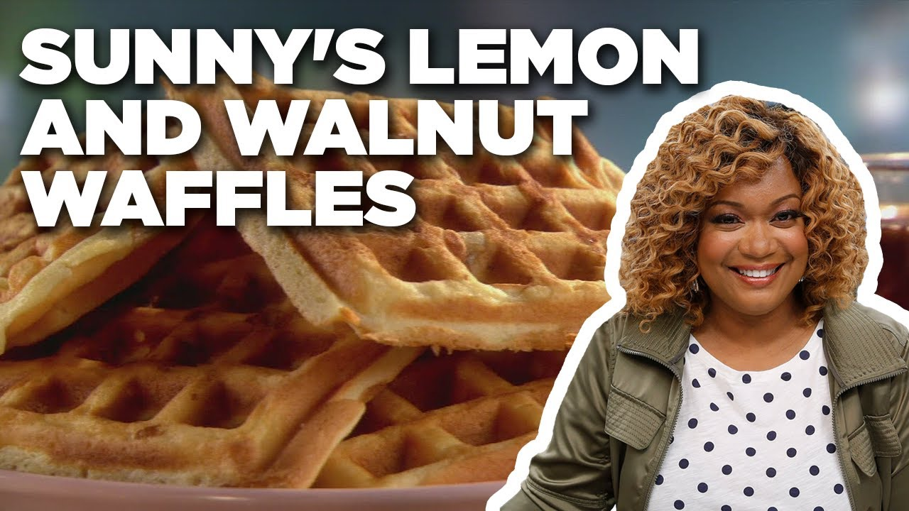 Sunny Anderson's Lemon and Walnut Waffles | Cooking for Real | Food Network