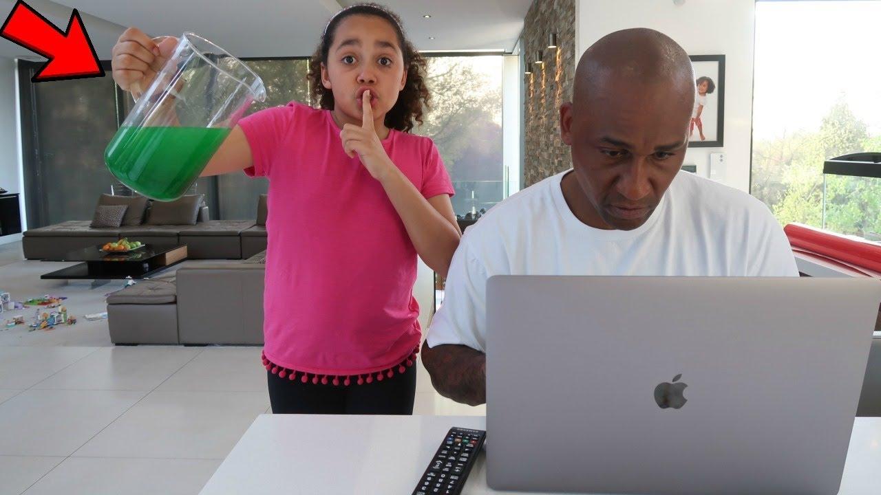 Slime Prank On My Dad Youtube
