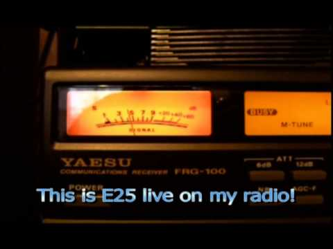 Numbers stations on shortwave radio! E11 and E25 spooky sounds