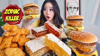 HONEYCOMB BIG MAC BURGER + CHICKEN NUGGETS MUKBANG 먹방 | Eating Show