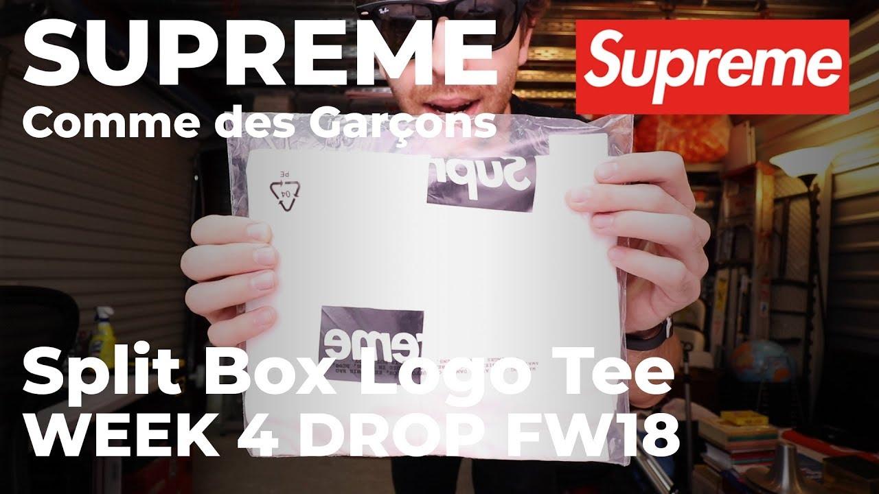 f306053adf2c Supreme/Comme des Garçons CDG SHIRT Split Box Logo Tee Week 4 Drop ...