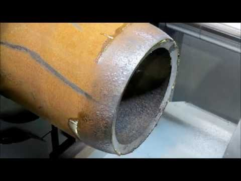 Холодная формовка концов труб 350 мм для элементов дорожного освещения