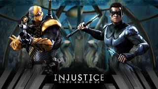 Injustice Gods Among Us - Deathstroke Vs Nightwing (Very Hard)