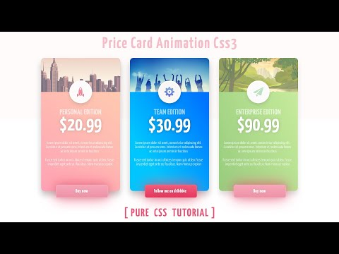 Pricing Table Design With Html And Css - Pure CSS Tutorials | Price Card Html Css