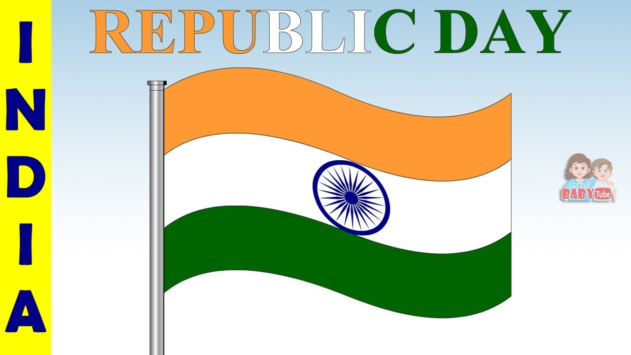 Happy Republic Day | Indian Flag Coloring Page for Kids | Learn ...
