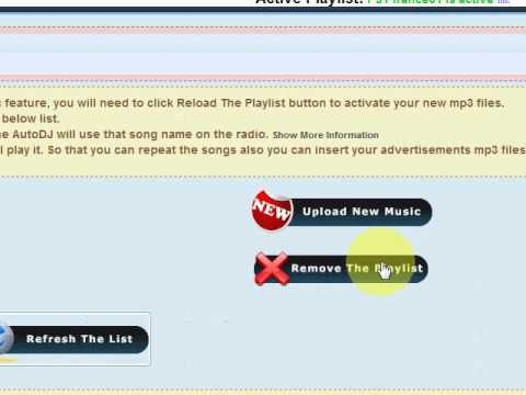 How to upload playlist MP3 files