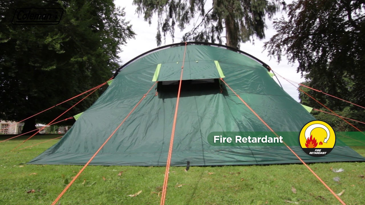 Coleman® BlackOut Bedroom Rocky Mountain 5+ Family Camping Tent   EN