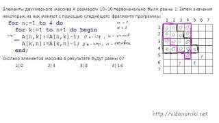 A12. Обработка массивов и матриц