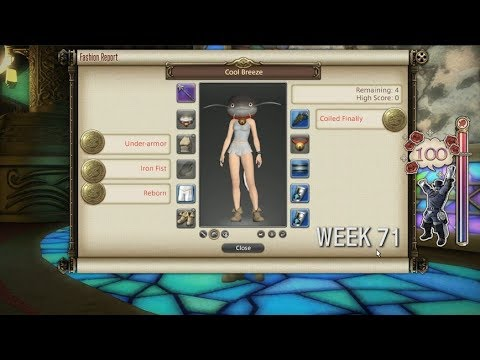 FFXIV: Fashion Report Friday - Week 71 - Theme : Cool Breeze