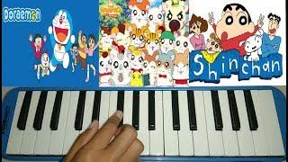 Kompilasi Not Lagu Kartun/Anime 90an Part 1 ~~ Pianika Cover - Tika Dewi Indriani