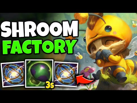 WTF?! TEEMO SHROOM WITH 3 SECOND CD = LEGIT SHROOM FACTORY! (SEASON 11 TEEMO) - League of Legends