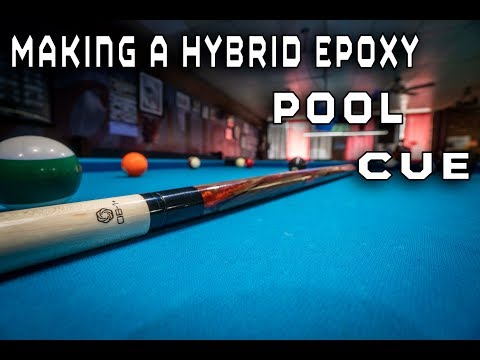 How To Make A Custom Hybrid Epoxy Pool Cue On A Wood Lathe Plus Trick Shots 4k