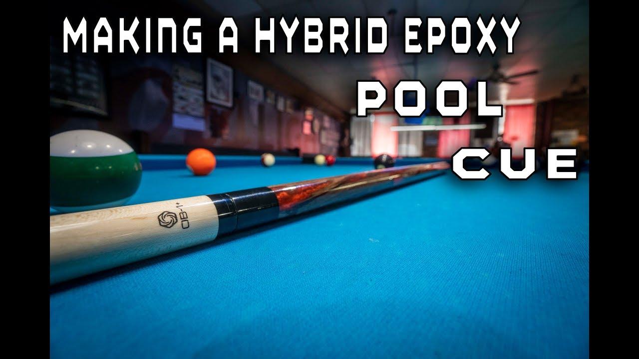 How To Make A Custom Hybrid Epoxy Pool Cue On a Wood Lathe Plus Trick Shots  4k