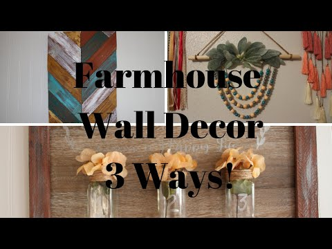 Farmhouse Wall Decor DIY 3 ways!